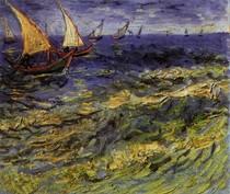 Vincent Willem van Gogh-Seascape-at-Saintes-Maries-Yellow