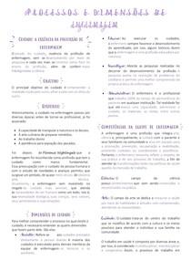 U2 Seção 1 - Processos e dimensões de enfermagem